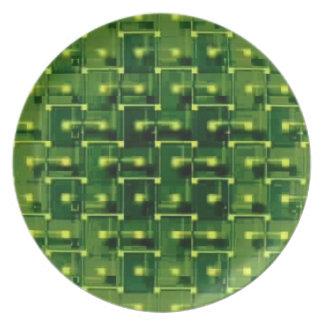 緑ワイヤーフレームのプレート プレート