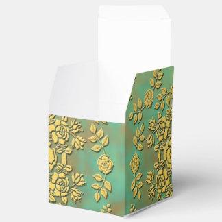 緑上の黄色バラ フェイバーボックス