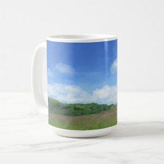 緑分野の青空 コーヒーマグカップ