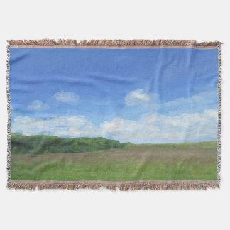 緑分野の青空 スローブランケット