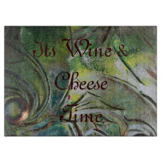 緑切断板ワインチーズ時間 カッティングボード