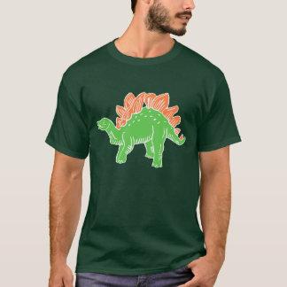 緑及びオレンジステゴサウルスの人のTシャツ Tシャツ