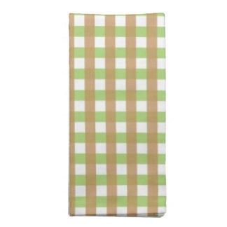緑及びブラウンによって陰影を付けられる夕食ナプキン(4パック) ナプキンクロス