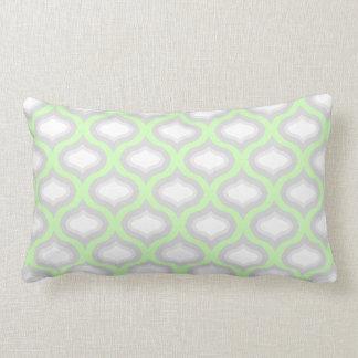 緑及び灰色のタイルは腰神経の枕を振ります ランバークッション
