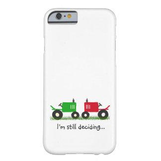緑及び赤いトラクターiPhone/iPadの箱 Barely There iPhone 6 ケース
