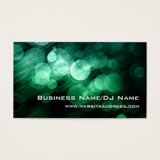 緑及び青の《写真》ぼけ味の(音楽かDJ)名刺 名刺