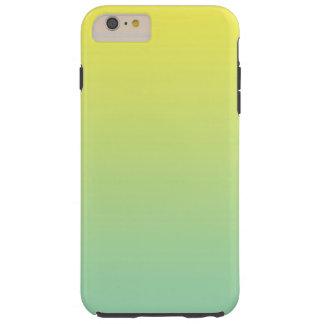 緑及び黄色のグラデーション TOUGH iPhone 6 PLUS ケース