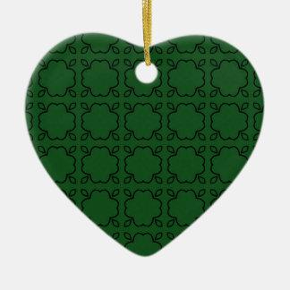 緑国のチャームのハートのクリスマスのオーナメント セラミックオーナメント