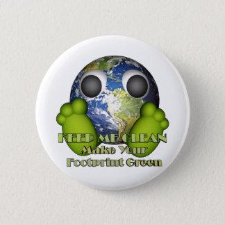 緑土のきれいな地球 5.7CM 丸型バッジ