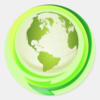 緑土のステッカー ラウンドシール
