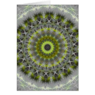緑土の曼荼羅の万華鏡のように千変万化するパターンパターン カード