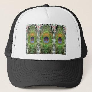 緑場面-孔雀の羽のコレクション キャップ