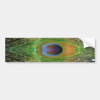 緑場面-孔雀の羽のコレクション バンパーステッカー