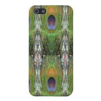 緑場面-孔雀の羽のコレクション iPhone 5 COVER