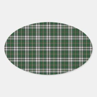 緑岬のブルターニュ人のタータンチェック 楕円形シール