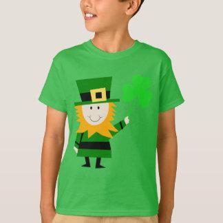 緑幸せで小さい小妖精の子供 Tシャツ