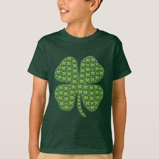 緑幸運なアイルランドのクローバーの子供 Tシャツ