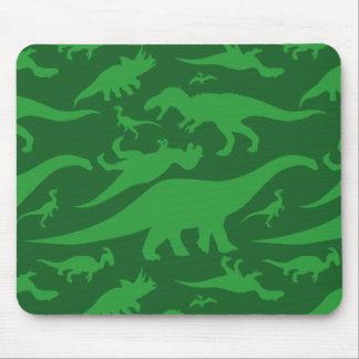 緑恐竜パターン マウスパッド