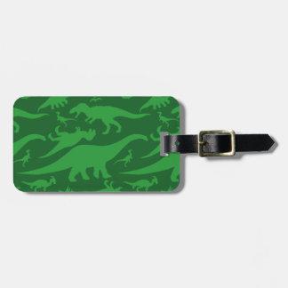 緑恐竜パターン ラゲッジタグ