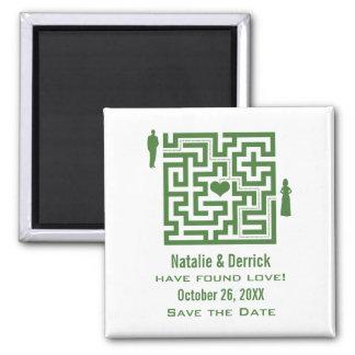 緑愛当惑の保存日付の磁石 マグネット