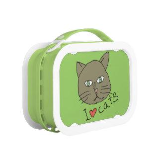 緑愛猫 ランチボックス