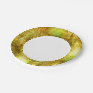 緑抽象的な質色の継ぎ目が無い茶色 ペーパープレート