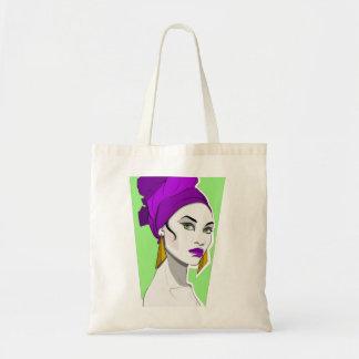 緑色の目の女の子 トートバッグ