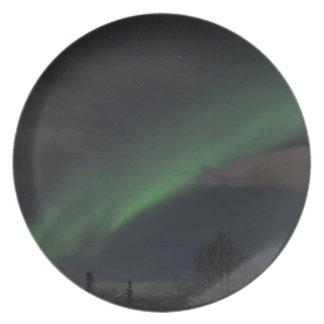 緑色航法燈の波 プレート