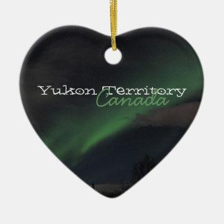 緑色航法燈の波; ユーコン準州領域の記念品 セラミックオーナメント