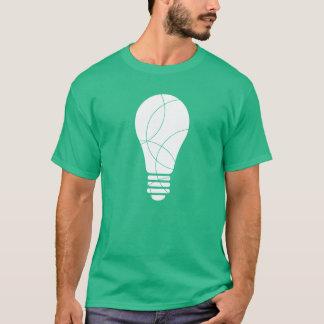 緑色航法燈の球根のTシャツ Tシャツ