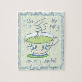 緑茶のパーティーのパズル ジグソーパズル