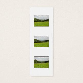 緑草原。 田舎景色 スキニー名刺