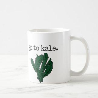 緑葉カンランに行って下さい コーヒーマグカップ
