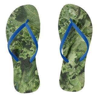 緑葉カンランのビーチサンダル ビーチサンダル