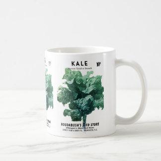 緑葉カンランの種の包みのラベル コーヒーマグカップ