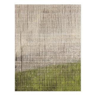 緑藻類が付いている木の写真 ポストカード