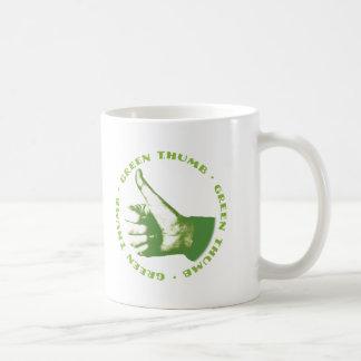 緑親指 コーヒーマグカップ