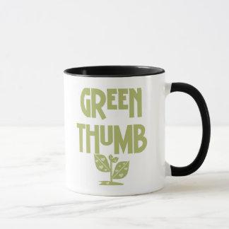 緑親指 マグカップ