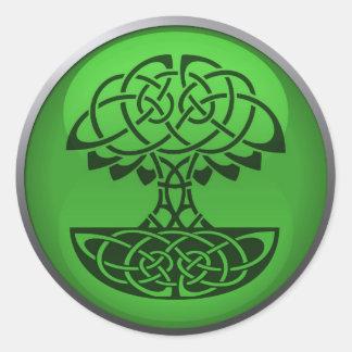 緑議会ステッカー ラウンドシール