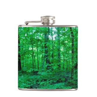 緑豊かなアメリカの亜熱帯森林フラスコ フラスク