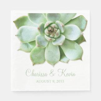 緑豊かな緑の水気が多い結婚式かブライダルシャワー スタンダードランチョンナプキン