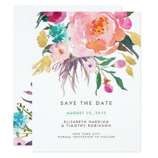 緑豊かな花束の結婚式の保存日付 10.8 X 14 インビテーションカード
