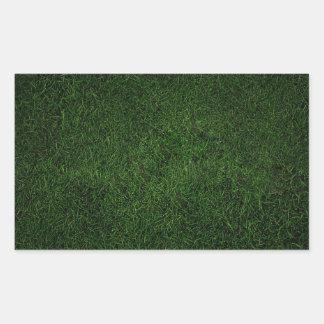 緑豊かな草の芝生 長方形シール