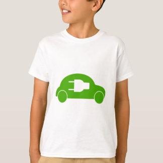 緑車のエコの自動電気自動車 Tシャツ