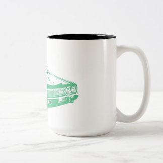 緑車 ツートーンマグカップ