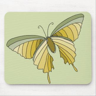 緑金ゴールドの蝶デザイナーオフィスのギフト マウスパッド