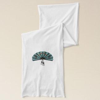 緑青の緑ドラゴンファンピクセル芸術 スカーフ