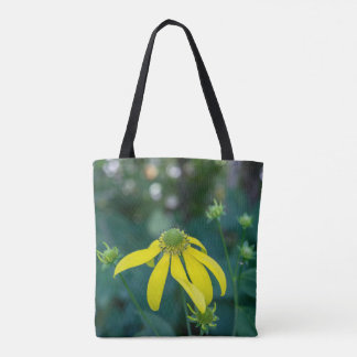 緑頭のConeflowerの黄色い野生の花のトートバック トートバッグ