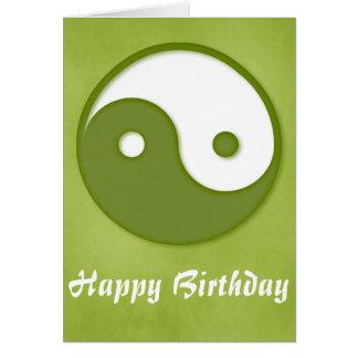 緑1 Yingまたはヤンのハッピーバースデーの挨拶状 カード