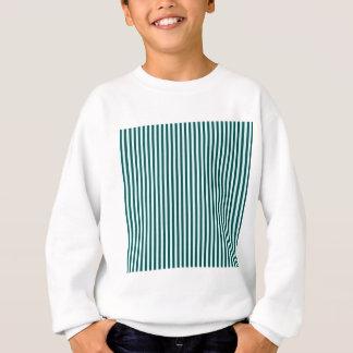 -緑2 - Celesteおよび深いジャングルの緑を縞で飾ります スウェットシャツ